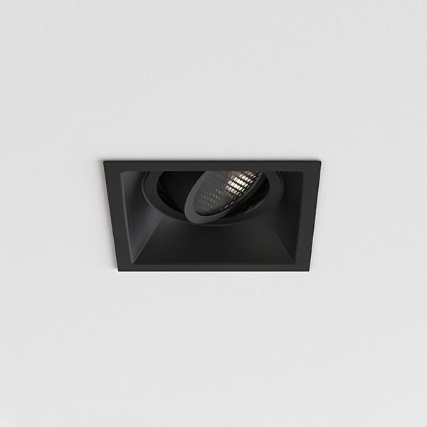 Astro Minima Slimline Square Adjustable Fire-Rated Indoor Downlight in Matt Black