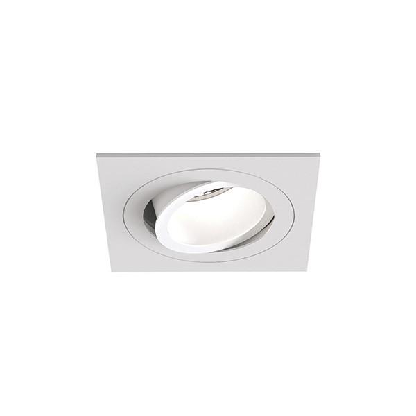 Astro Pinhole Slimline Square Adjustable Fire-Rated Indoor downlight in Matt White