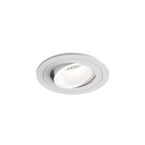 Astro Pinhole Slimline Round Adjustable Fire-Rated Indoor downlight in Matt White