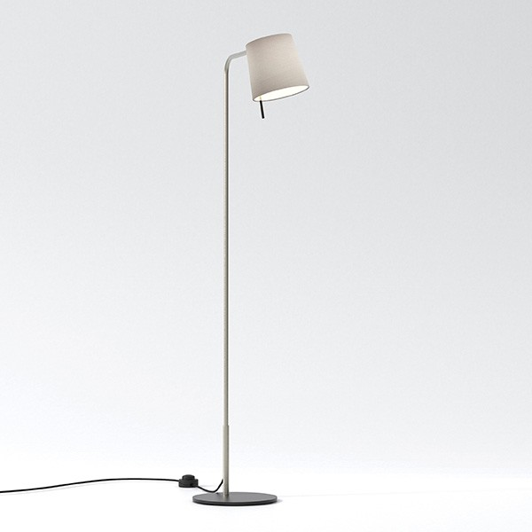 Astro Mitsu Floor light in Matt Nickel