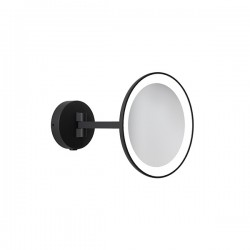 Astro Mascali Round LED Illuminated Vanity Mirror in Matt Black