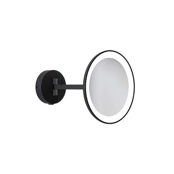 Astro Mascali Round LED Illuminated Vanity Mirror in Matt Black