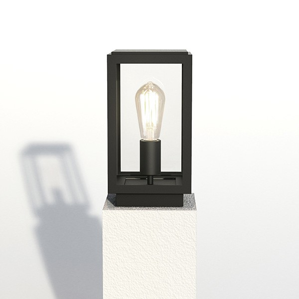 Astro 1095036 Homefield Outdoor Pedestal Light in Textured Black