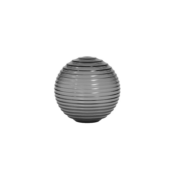 Astro Tacoma Ribbed Glass Shade in Smoked Glass