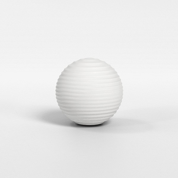 Astro Tacoma Ribbed Glass shade in White Glass
