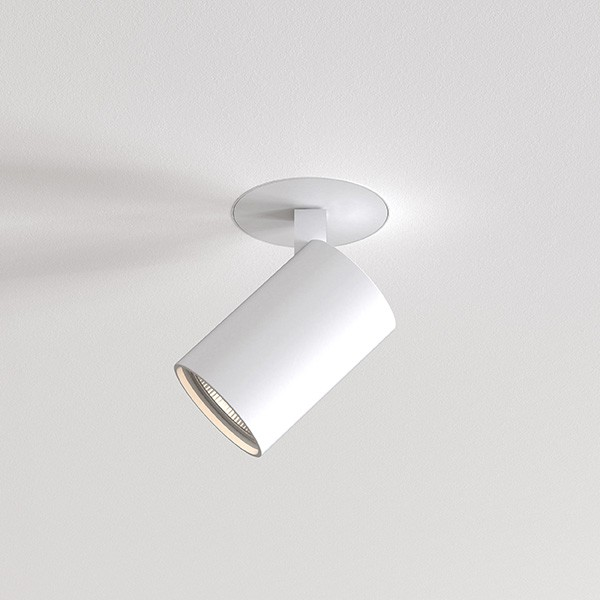 Astro Ascoli Flush Fire-Rated Indoor Spotlight in Textured White