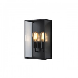 Astro Messina Twin Outdoor Wall Light in Textured Black