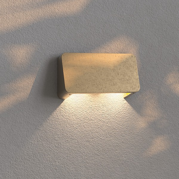 Astro Incline Outdoor Twin Wall Light