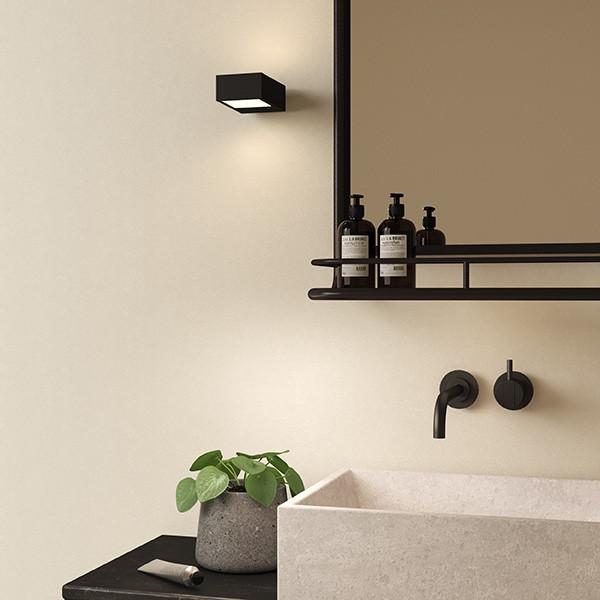 Astro Kappa LED Bathroom Wall Light in Matt Black