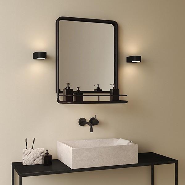 Astro Epsilon LED Bathroom Wall Light in Matt Black