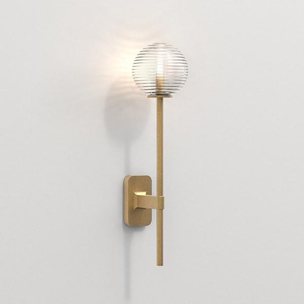 Astro Tacoma Single Grande Bathroom Wall Light in Antique Brass