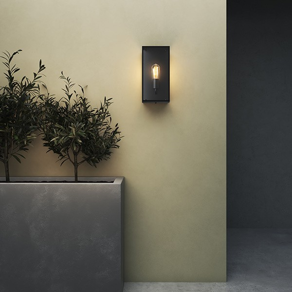Astro Messina 200 Outdoor Wall Light in Textured Black