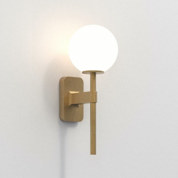 Astro Tacoma Single Bathroom Wall Light in Antique Brass