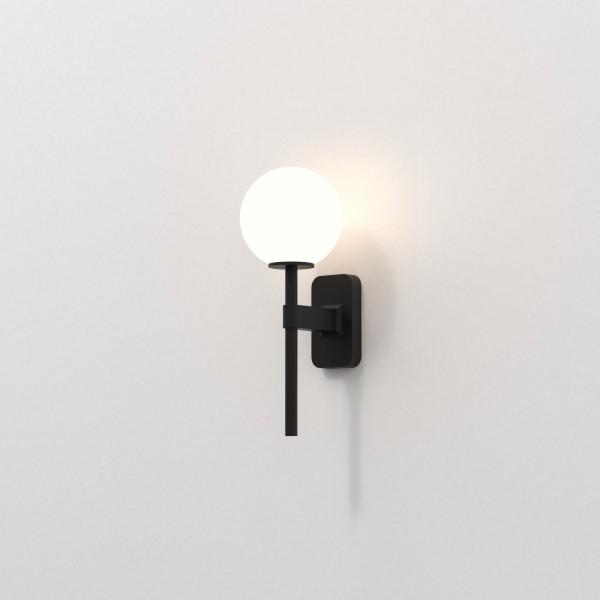 Astro Tacoma Single Bathroom Wall Light in Matt Black