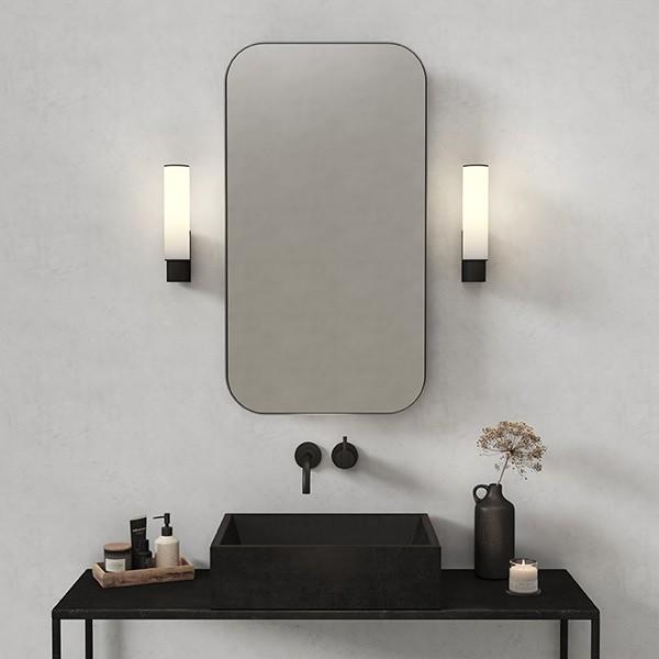 Astro Kyoto LED Bathroom wall light in Matt Black