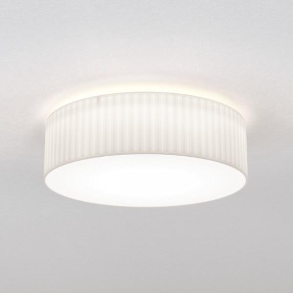 Astro Cambria 580 Indoor Ceiling Light in Pleated White Fabric