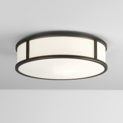 Astro Mashiko 300 Round LED Bathroom Ceiling Light in Bronze