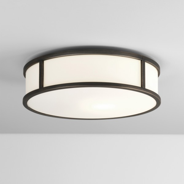 Astro Mashiko 300 Round LED Bathroom Ceiling Light in Bronze