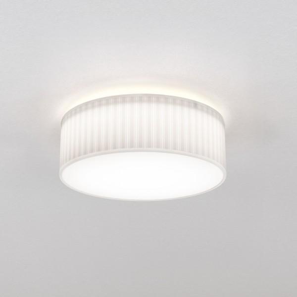 Astro Cambria 380 Indoor Ceiling Light in Pleated White Fabric