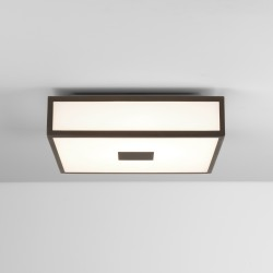 Astro Mashiko 300 Square LED II Bathroom Ceiling Light in Bronze