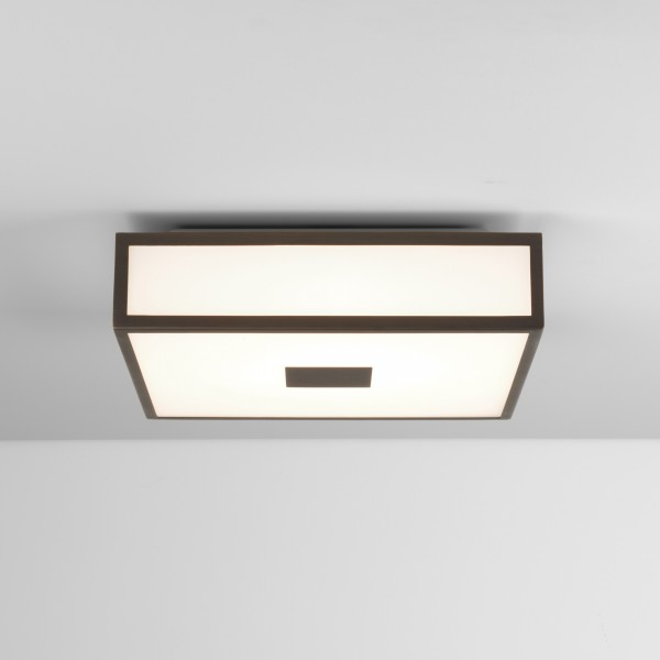 Astro Mashiko 300 Square LED II Bathroom Ceiling Light in Bronze