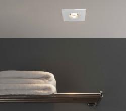 Astro Obscura Square Bathroom Downlight in Polished Chrome