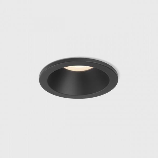Astro Minima Round Fixed IP65 Bathroom Downlight in Matt Black