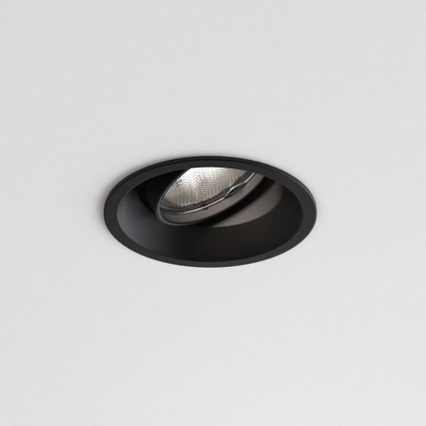 Astro Minima Round Adjustable Indoor Downlight in Matt Black