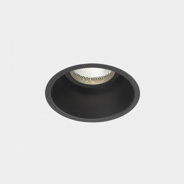 Astro Minima Round Fixed Indoor Downlight in Matt Black