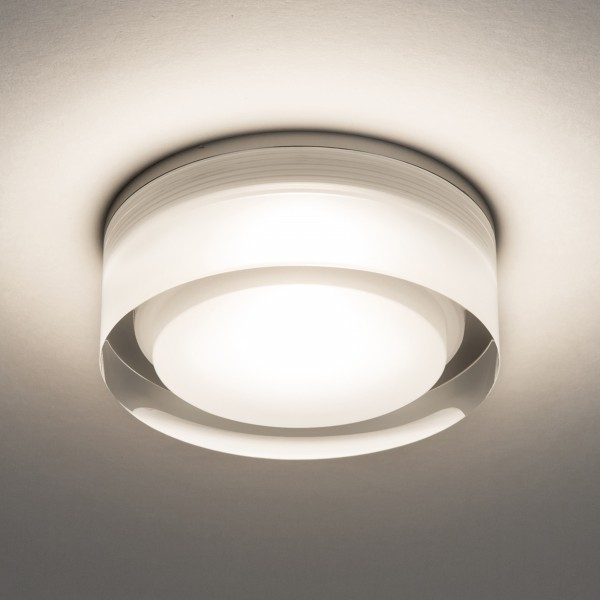 Astro Vancouver Round 90 LED Bathroom Downlight in Clear Acrylic