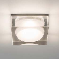 Astro Vancouver Square 90 LED Bathroom Downlight in Clear Acrylic
