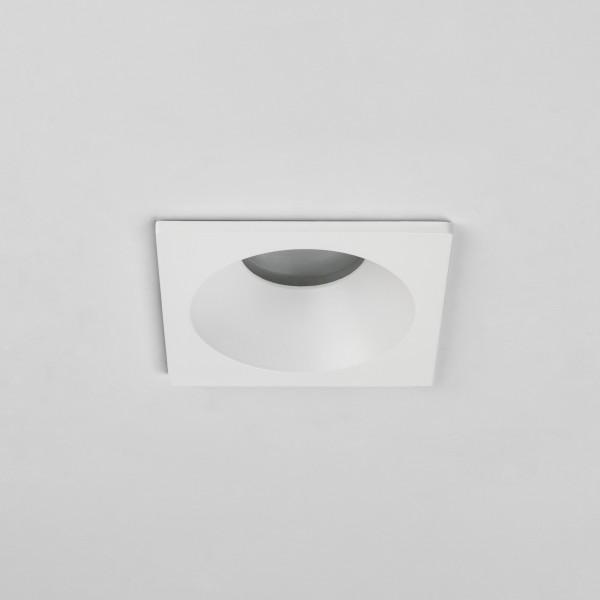 Astro Minima Square Fixed IP65 Bathroom Downlight in Matt White