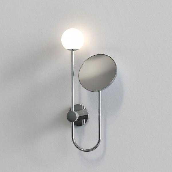 Astro Orb Bathroom Mirror in Polished Chrome