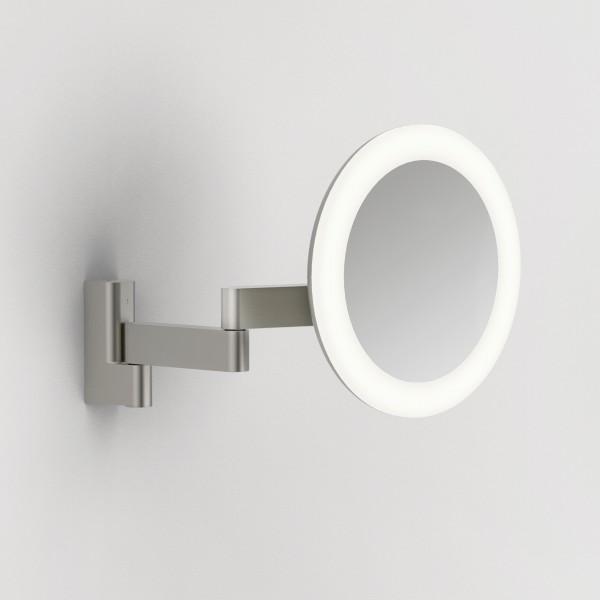 Astro Niimi Round LED Bathroom Mirror in Matt Nickel