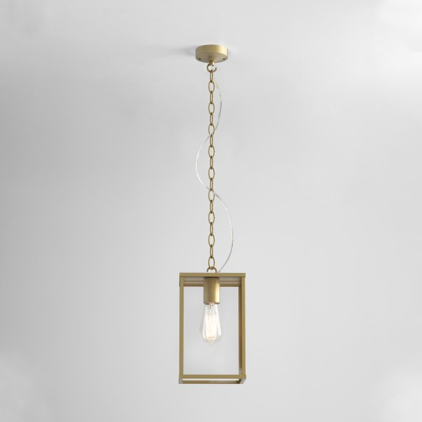 Astro Homefield Pendant 240 Outdoor Pendant in Natural Brass