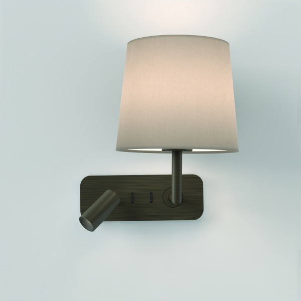 Astro Side by Side Indoor Reading Light in Bronze