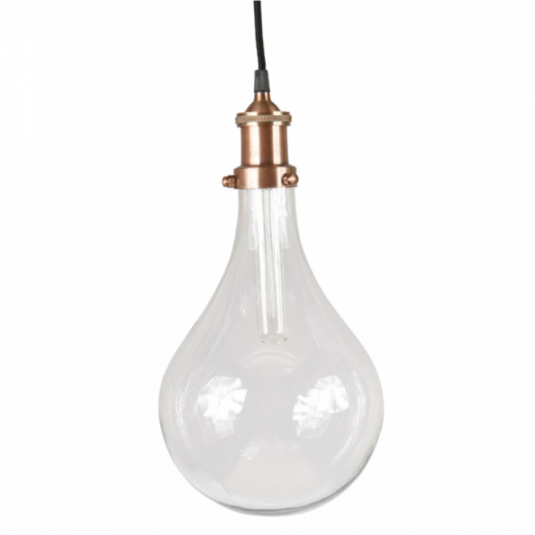 Culinary Concepts 1P-1284 Glass Oversized Light Bulb Pendant