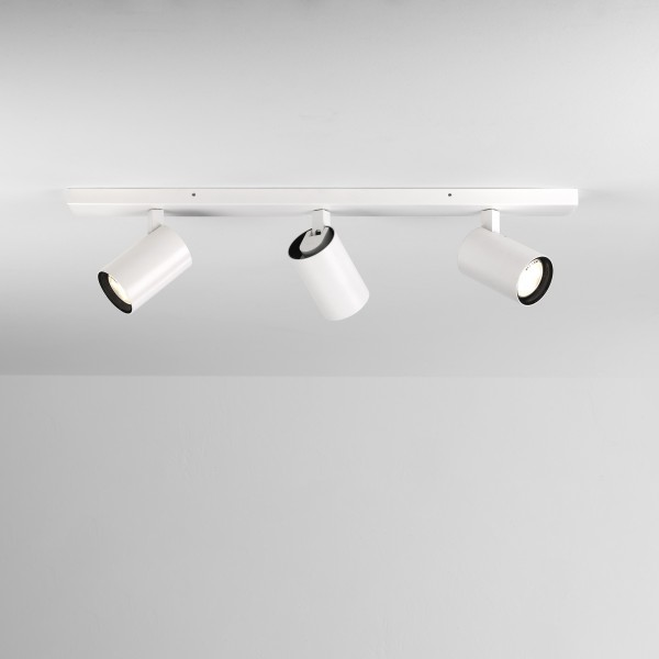 Astro Aqua Triple Bar Bathroom Spotlight in Matt White