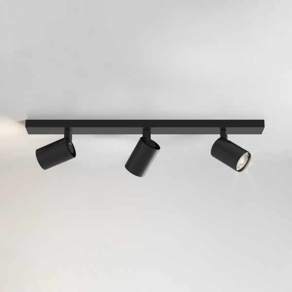 Astro Ascoli Triple Bar Indoor Spotlight in Matt Black