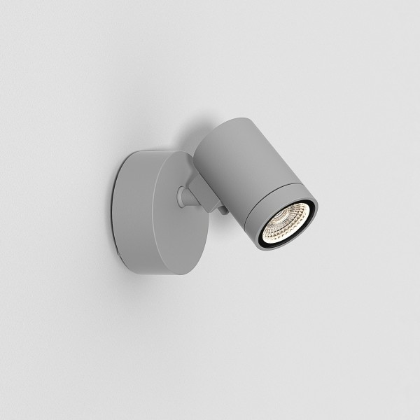 Astro Bayville Single Spot Outdoor Spotlight in Textured Grey