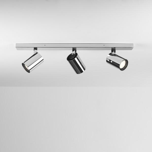 Astro Aqua Triple Bar Bathroom Spotlight in Polished Chrome
