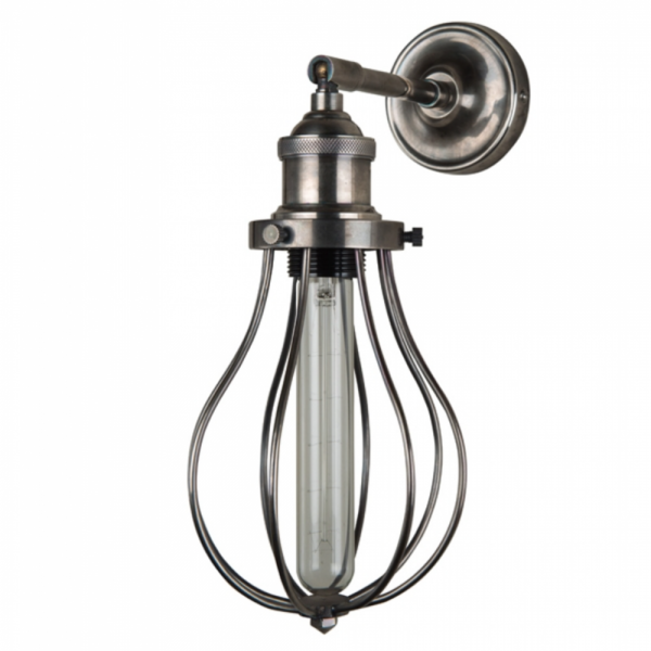 Culinary Concepts EDSN-WB Antique Silver Wall Fitment With Antique Silver Edison Cage