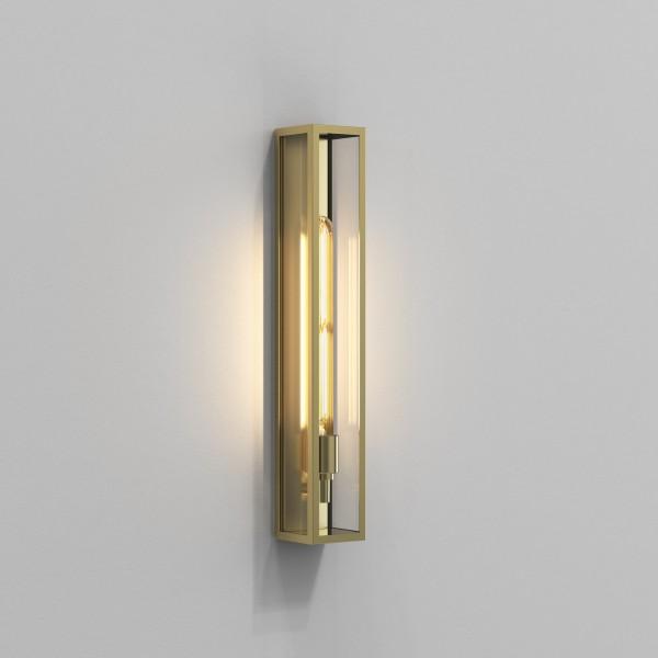 Astro Harvard 500 Outdoor Wall Light in Natural Brass