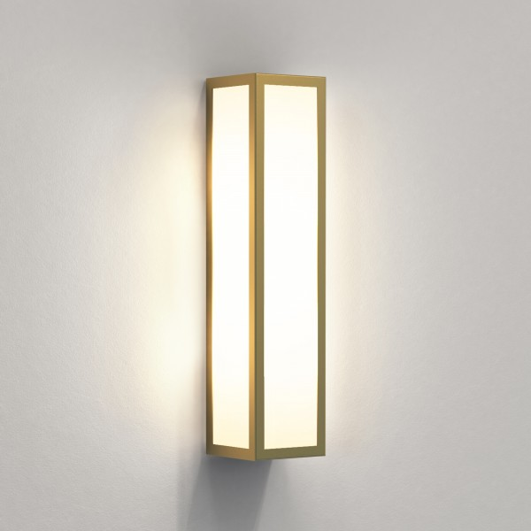 Astro Salerno Outdoor Wall Light in Natural Brass