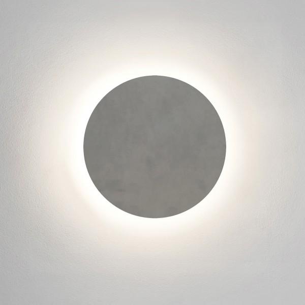 Astro Eclipse Round 300 LED Coastal Wall Light in Concrete