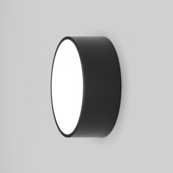 Astro Kea 150 Round Outdoor Wall Light in Textured Black