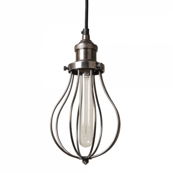 Culinary Concepts EDSN-HNG Antique Silver Hanging Fitment With Antique Silver Edison Cage