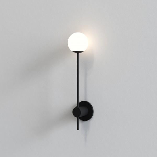 Astro Orb Single Bathroom Wall Light in Matt Black