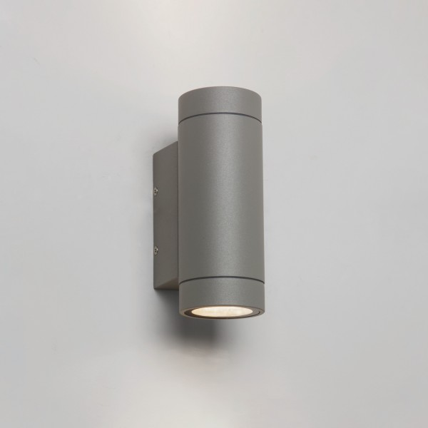 Astro Dartmouth Twin LED Outdoor Wall Light in Textured Grey