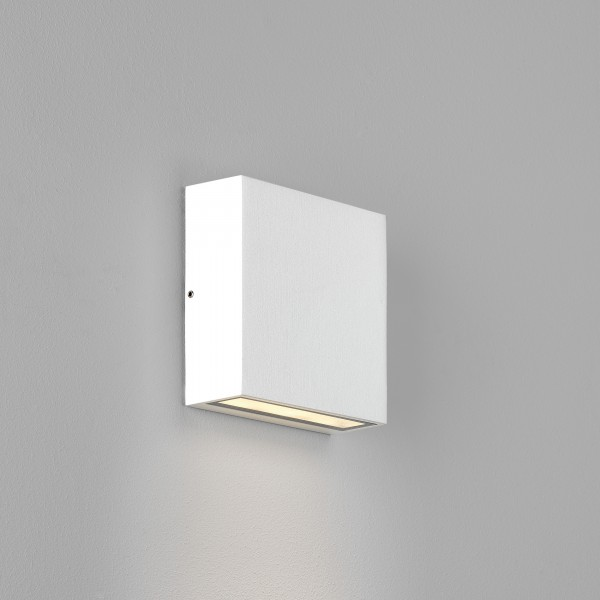 Astro Elis Single LED Outdoor Wall Light in Textured White